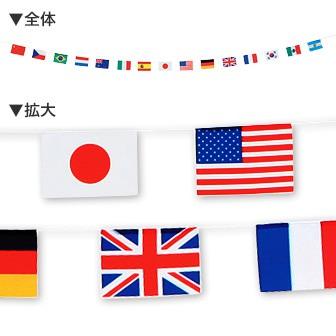 ミニ万国旗15カ国15旗(ポンジタイプ)