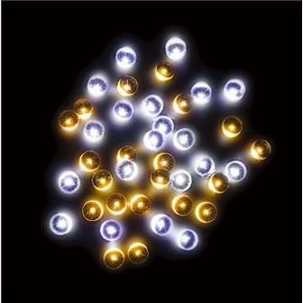 防滴160球LEDナイアガラライト(ホワイト/ゴールド)
