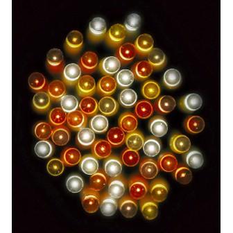 防滴100球LEDライト(ゴールドグラデーション)