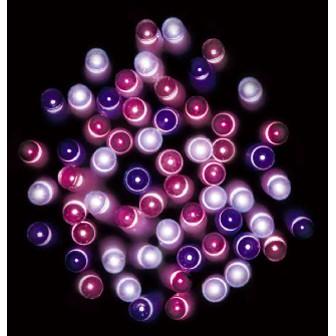 防滴100球LEDライト(ピンクグラデーション)