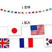 ミニ万国旗15カ国15旗(ペーパータイプ)