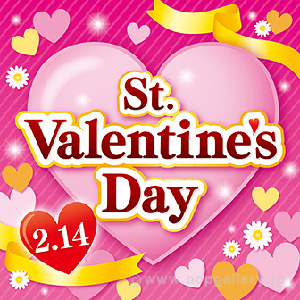 テーマポスター St.ValentinesDay(金リボン)