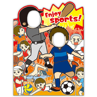 顔出しパネル Enjoy sports!