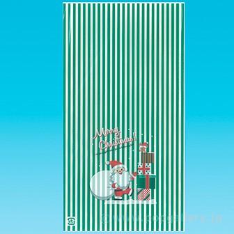 OPP袋 (プレゼントサンタ)S グリーン
