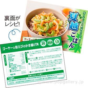 レシピ4種セット「夏越ごはん」(4種×各100枚)