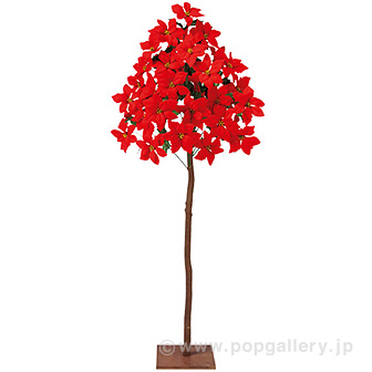 ナチュラルポインセチア立木 (高さ:120cm)