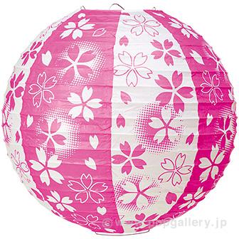 桜吹雪提灯