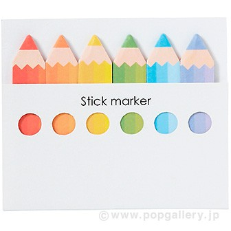色鉛筆型ふせん
