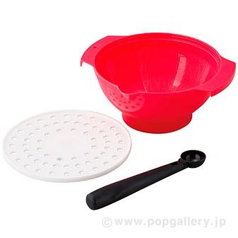 電子レンジにも使えるすり鉢ボール(ピンク)