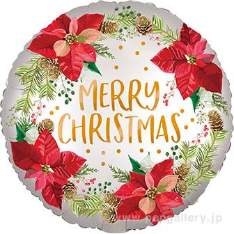 ポップバルーン(サテンフューズドポインセチアクリスマス)