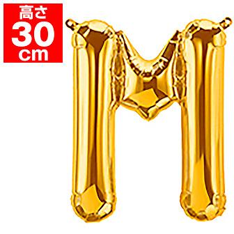 """16""""プレミアムレターバルーン「M」ゴールド"""