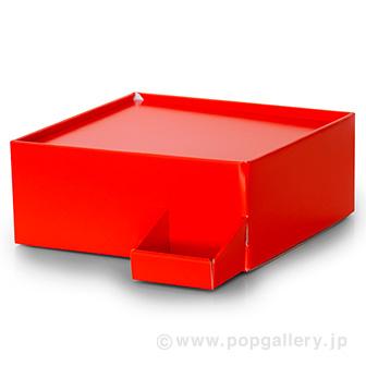 ガチャコップ簡易卓上台(紙製) 赤
