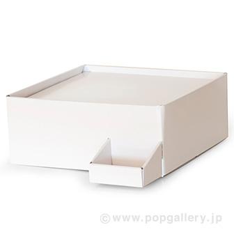 ガチャコップ簡易卓上台(紙製) 白