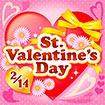 テーマポスター St.ValentinesDay(ドット)