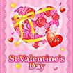 テーマポスター St.ValentinesDay(バラ)