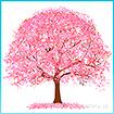 ウォールタペストリー 桜