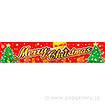 横断幕 MerryChristmas(ツリー)