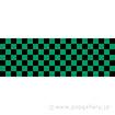 ラウンドシート 市松(黒緑)
