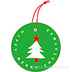 ラッピングタグ(クリスマス・緑)ツリー