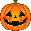 ハロウィン かぼちゃのお面(特大)
