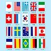 テトロン20カ国連続旗 (全長9.8mタイプ)