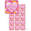 シール St.ValentinesDay 金リボン (1パック300枚入)