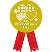 リボンシール St.ValentinesDay(チェック)(200枚入)