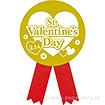 リボンシール St.ValentinesDay(金リボン)(200枚入)