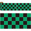 かんたんロール幕 市松(黒緑)