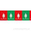 ビニール幕 クリスマス(赤・緑)