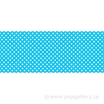 ビニール幕 水玉 ブルー