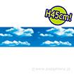 ビニール幕 空と雲 [45cm(H)]