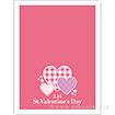ビニール小袋 St.ValentinesDay(チェック)