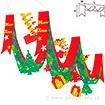 クリスマスツリープリーツ2連ペナント