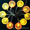 LED電池式ライト(レモン)