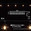 LEDストリングバルブライト(ゴールド)