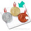メダル圧縮タオル(金)