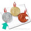 メダル圧縮タオル(銀)