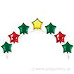 アイブレックスアーチバルーン(星型) クリスマスカラー