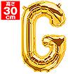 """16""""プレミアムレターバルーン「G」ゴールド"""
