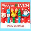 クリスマス木製ピンチ(5個セット)