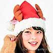 トナカイのフレンド サンタ帽子