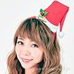 サンタ帽カチューシャ