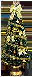 150cmゴールドリボンファイバーツリーセット