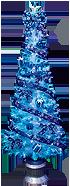 180cmブルーリボンファイバーツリーセット