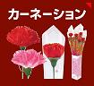 母の日 カーネーション(造花)|ラップ巻きカーネーション
