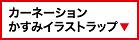 カーネーションかすみイラストラップ(大)
