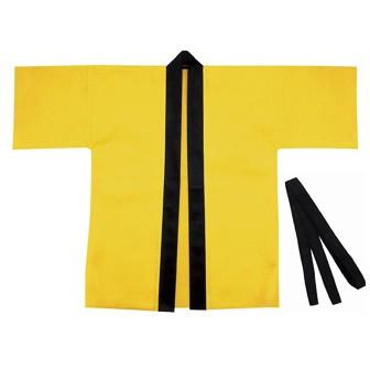 カラー不織布ハッピ大人用L 黄