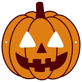 ハロウィン かぼちゃお面(ゴム輪なし)