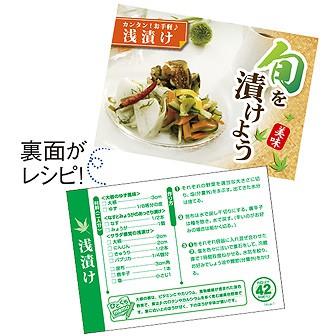 レシピ4種セット「漬物」(4種×各100枚)